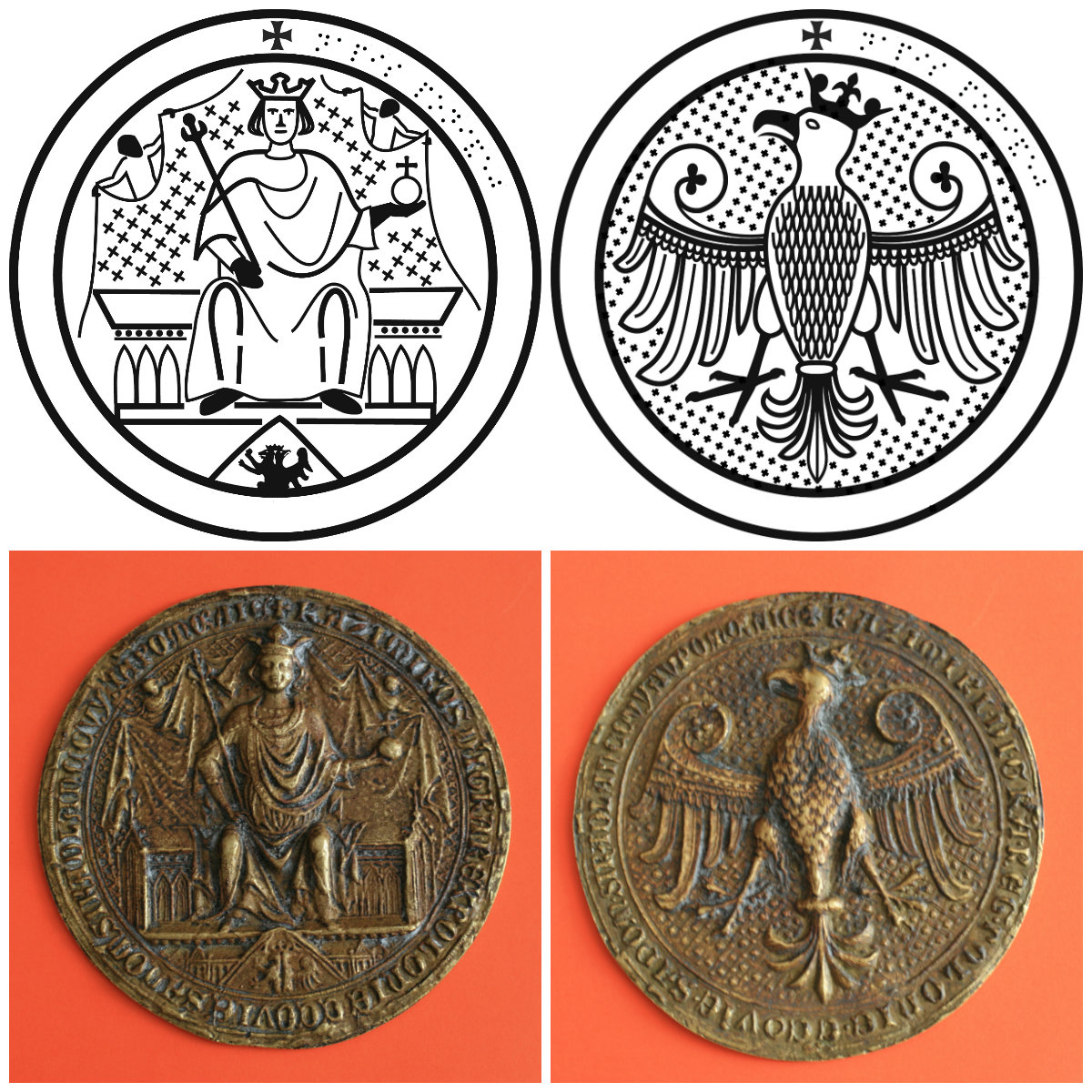 King Casimir the Great's seal of majesty
