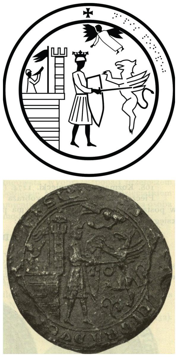 Seal of Leszek the Black, featuring a battle with a griffin